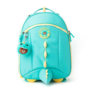 741e5075dd Image is loading LINE-FRIENDS-Character-DINO-BROWN-Kids-Backpack-Trolley-