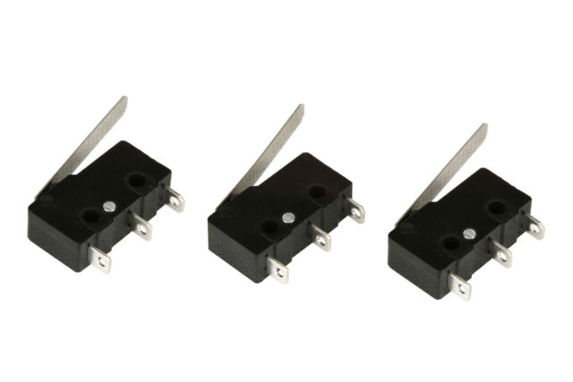 3 pc TEMCo Micro Limit Switch Lever Arm Subminiature SPDT Snap Action LOT