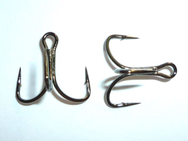 TG76NP-BN UltraPoint 25 Mustad KVD-Elite Triple-Grip 1X Treble Hooks Size 8