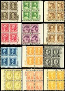 704-15-Mint-VF-NH-Set-of-Plate-Blocks-of-Four-Stamps-Cat-393-00-Stuart-Katz