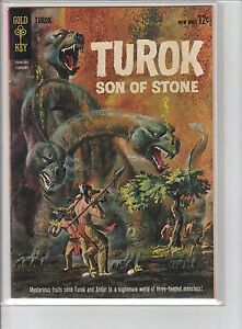 Gold-Key-Four-Color-44-March-1965-TUROK-Son-of-Stone-VG-CR-OW
