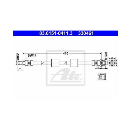 2 ATE Bremsschläuche vorne BMW 5er E39