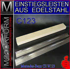 Mercedes 230c 230ce 280ce c123 w123 einstiegsleisten barras de entrada acero inoxidable