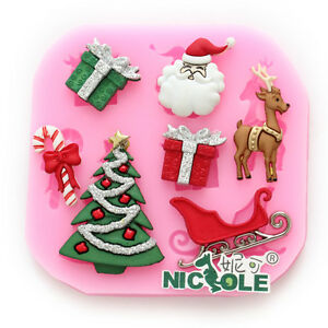image is loading christmas silicone moulds fondant cake tools diy baking