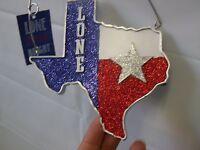 Texas Christmas Ornament Wooden Texas Plaque W/star St Nicholas Square