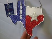Texas Christmas Ornament Wooden Texas Plaque W/star St Nicholas Square