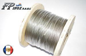Rouleau de 100M Cable 6mm inox 316 7x19 ( 133 Fils ) inox A4 (Soit 1-99 € -le M) h5WbTdxE-09102539-369202967