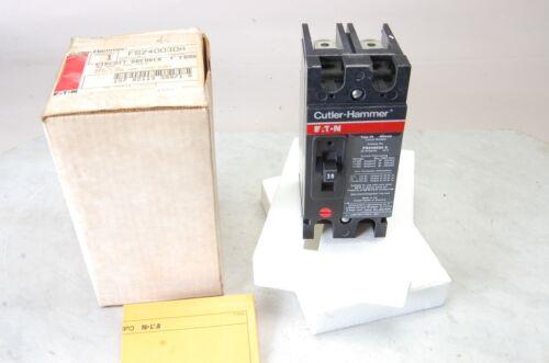 Cutler Hammer FS FS240030A 2 pole 30 amp Circuit Breaker NEW IN BOX
