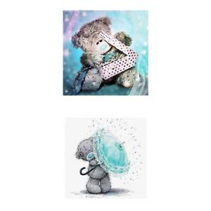2Pcs-10-034-x10-034-Bear-5D-Diamond-Painting-Stickerei-Drill-Cross-Stitch-fuer-Kinder