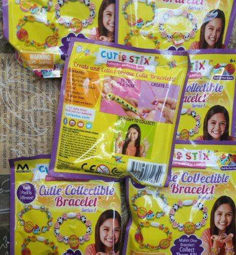 Lot of 6 CUTIE STIX CUTIE COLLECTIBLE BRACELET SERIES 1 BLIND BAG New