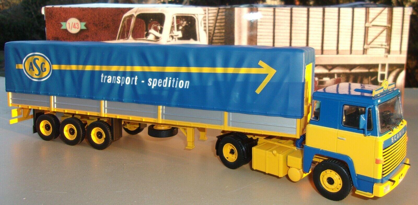 n° 78 SCANIA LBT 141 Camion Semi Remorque Transports ASG 1/43 Neuf en boite