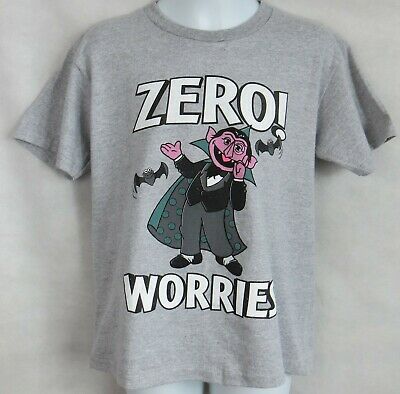 Sesame Street Zero Worries Boys T-Shirt New Officially Licensed The Count