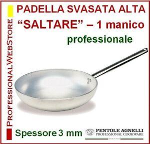PADELLA-SVASATA-ALTA-1-MANICO-SALTARE-AGNELLI-ALLUMINIO-cm-20-24-28-32-36-40-45