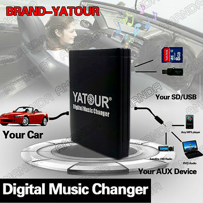 YATOUR CAR ADAPTER CD CHANGER CONNECTOR FOR PEUGOET 106 206 206CC 307 307SW 406
