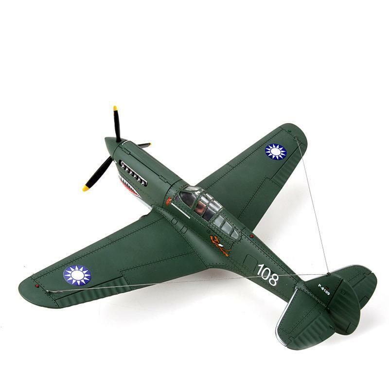 1 32 Scale Metal P40 Flying Shark Fighter Plane Army Green Static Airplane Model