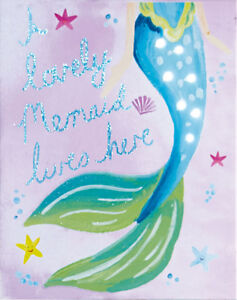 Lovely Image Is Loading MERMAID Canvas Wall Art Pictures LIGHT UP Detail