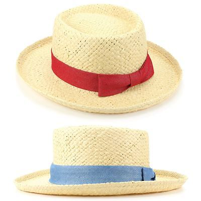 NUOVO Stile Di Paglia Fedora Borsalino Panama Stile Sole Estivo Cappello UK Venditore