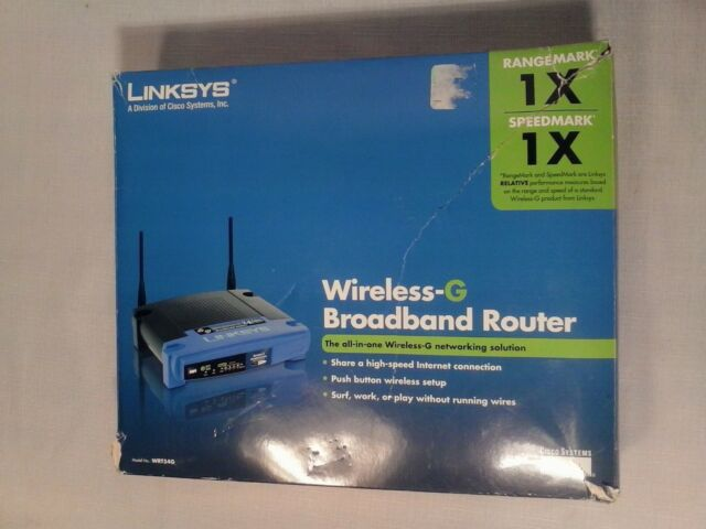 Linksys WRT54G 54 Mbps 1-Port 10/100 Wireless G Router