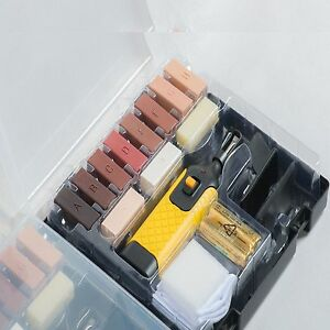 19pc laminate floor worktop repair kit wax system sturdy for Kit riparazione parquet