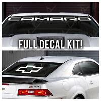 Camaro Windshield Banner Full Kit Logo Chevrolet Racing Decal Vinyl Sticker Set