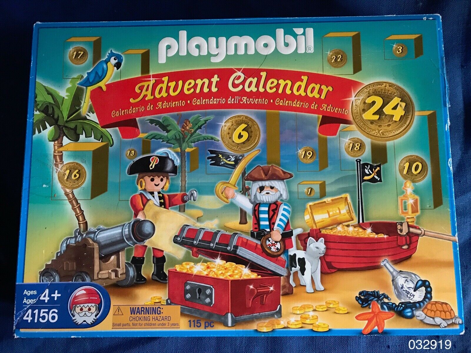 Playmobil 4156 Christmas Advent Calendar Pirates Playset w  Acces &Figures w box
