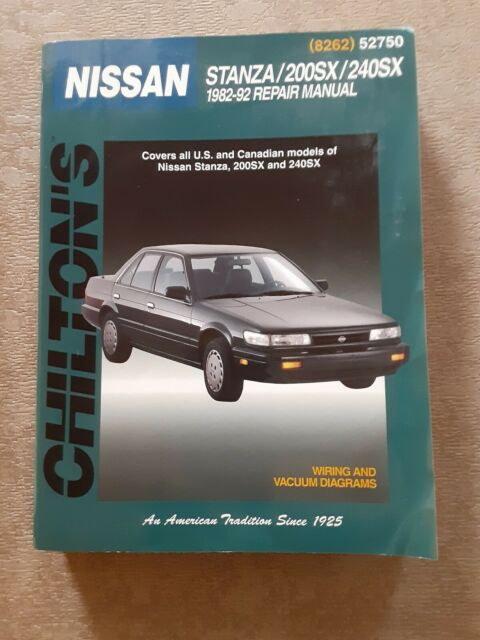 Chilton Repair Manual 52750 Nissan 1982
