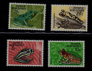 PAPUA-NEW-GUINEA-SCOTT-257-260-MNH-FROGS