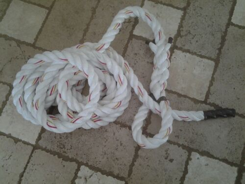 """1 1//2/"""" x 27 FT Polydacron WORKOUT Rope with Hanging LOOP Indoor//Outdoor"""