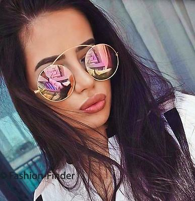 SO Real BOHO Coachella TOP Wire Bridge Round Circle Reflective Mirror Sunglasses