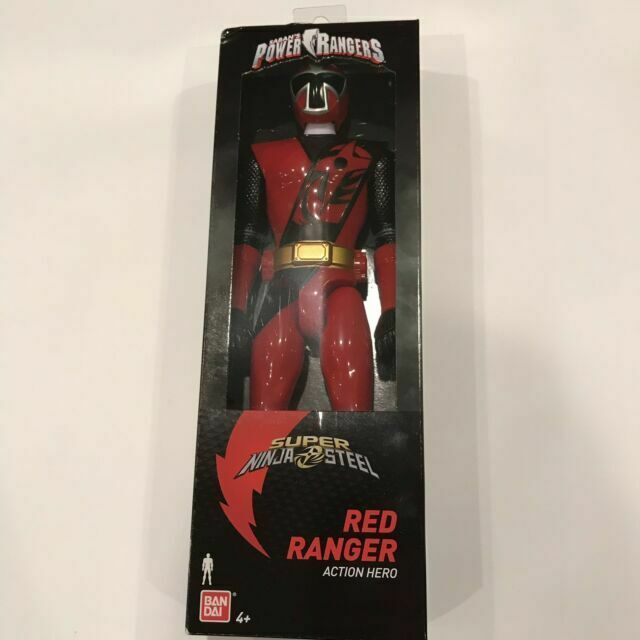 "12 inch Action Hero BANDAI NIB 12/"" Red Ranger Power Rangers Super Ninja Steel"