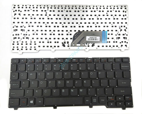 New Black Lenovo Ideapad 100S-11IBY Laptop Keyboard US No Frame