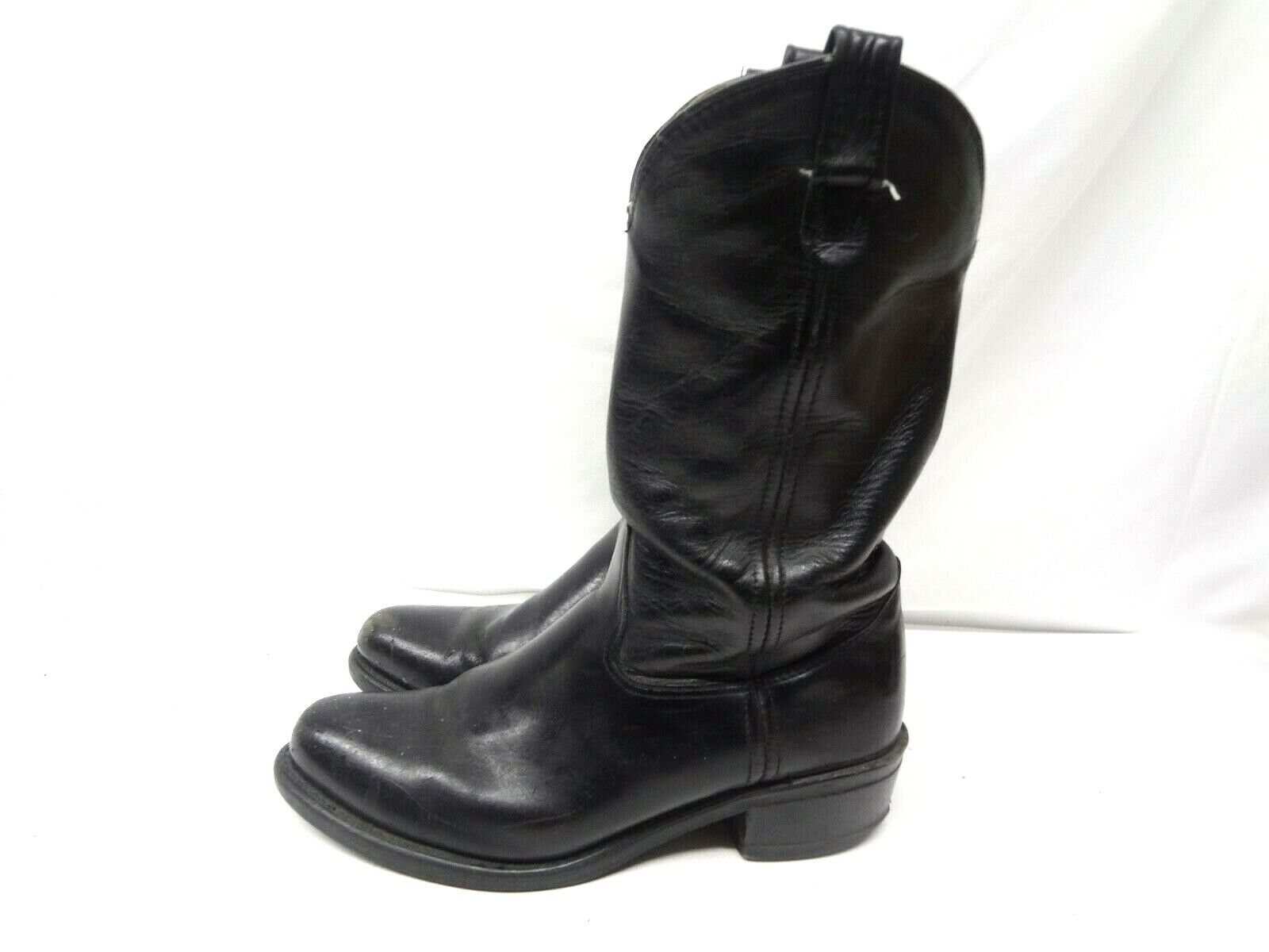 VTG HH Double-H Western Motorcycle Boots Leather Style 4620 Men's Size 8.5 EE