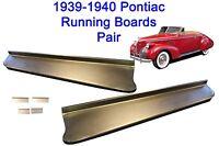 1939-1940 Pontiac Steel Running Board Set 39,40 - Made In Usa 16 Gauge