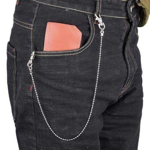 WAIST CHAIN SILVER PUNK JEANS BELT CLOTHING ACCESSORIES JEWELRY FASHION KEY CHAI