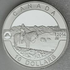 2014 $10 The Canadian Cowboy ½ Oz Pure Silver Matte Proof Coin, 'O Canada' #7