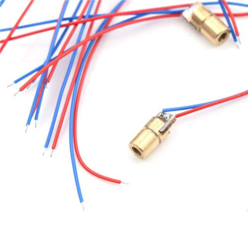 10Pcs Mini 650nm 5mW 5V Red Laser Dot Diode Module Head  FBB
