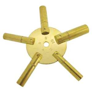 Cle-multiple-de-pendule-horloge-5-branches-N-2-a-10-Star-Clock-Key-N-2-to-10