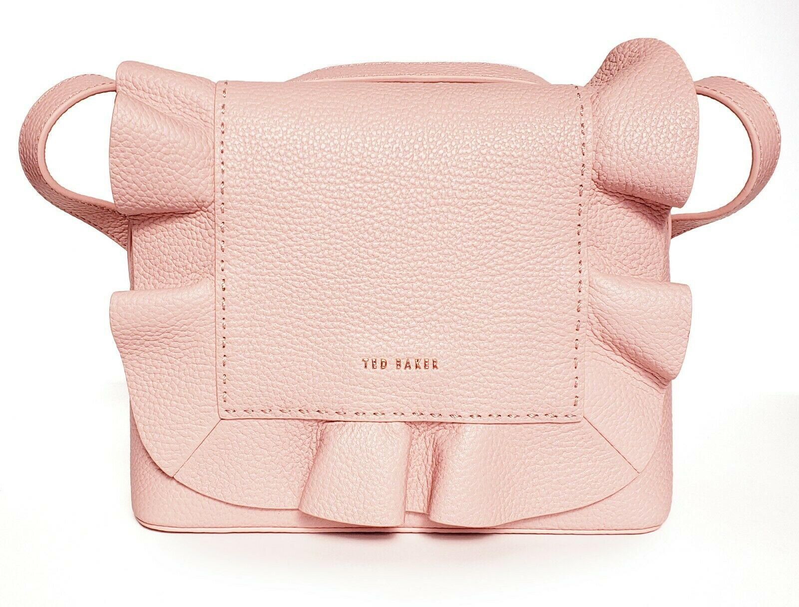 03017753f Ted Baker Rammira Leather Ruffle Convertible Lady Backpack Rugsack ...