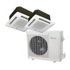 36000 BTU Dual Zone Ductless Mini Split Air Conditioner - Ceiling Cassette