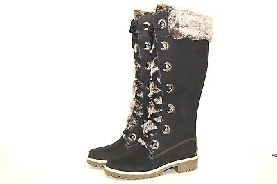Timberland 91336 Black Leather Women Boots