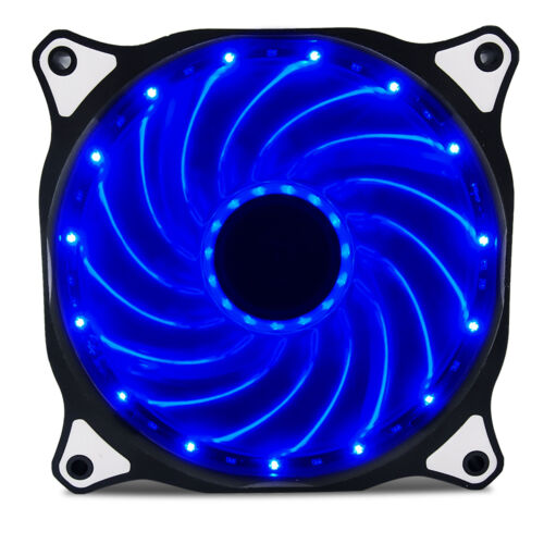 2-Pack 120mm DC 15 LED Cooling Case Fan for PC Computer,Quiet Edition CPU Blue