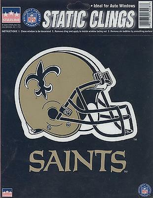 12 New Orleans Saints 6 Inch Static Cling Stickers