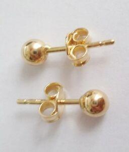 orecchini pallina oro