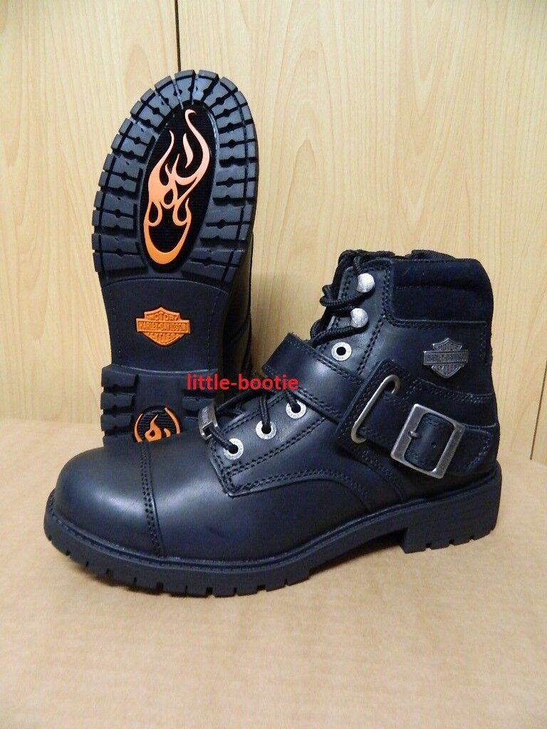 Harley-Davidson schwarz Boots Schnürboots Stiefel Herren schwarz Harley-Davidson Leder 93461 Bowers 39f879