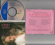 SOPHIES CHOICE Audiophile Soundtrack CD (1984 Marvin Hamlisch) Meryl Streep RARE