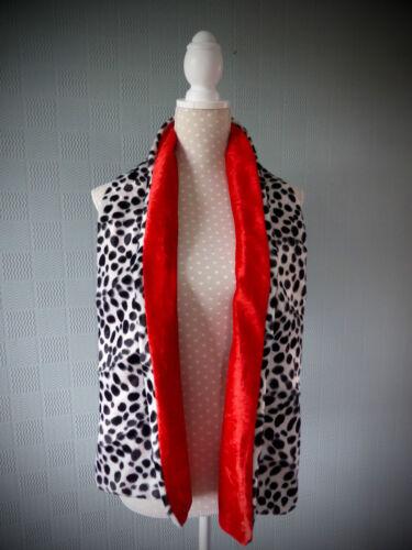 Nero e Bianco Scialle in pelliccia sintetica Dalmata Print Wrap Cruella De Ville rubato