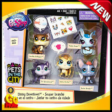 NEW Littlest Pet Shop Pets in the City Dining Downtown 5-Pack : #62 63 64 65 66