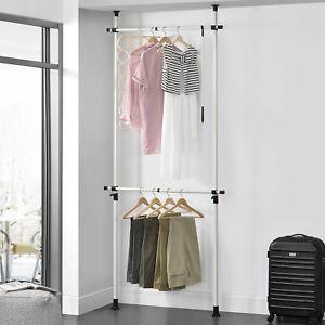 Teleskop-Garderobe-Kleiderstange-Garderobenstander-Stange-Kleiderschrank