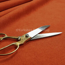 Quality Highland Soft Wool Effect New Chenille Curtain Upholstery Orange Fabric