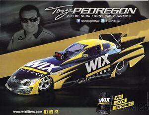 2013 Tony Pedregon Wix Filters Toyota Camry Funny Car Nhra Postcard
